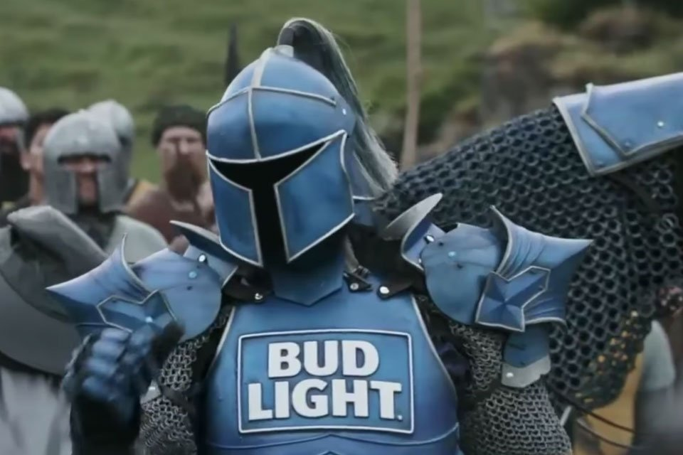 Bud lights the bud knight is the most metal thing about the big maybe someday a heavy metal band will get the gig but in the meantime lets discuss the most metal thing about the big game the bud knight aloadofball Choice Image